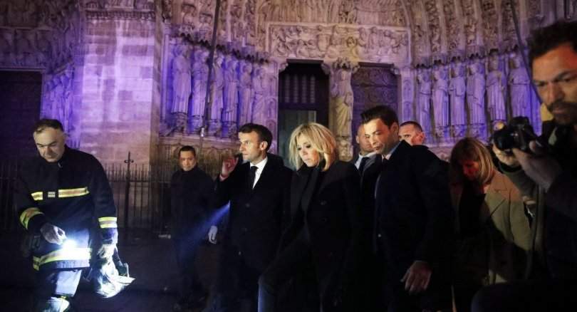 Macron at N D